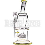 "PULSE GLASS WP INCYCLER WITH STEREO MATRIX PERC 10"" SLIME GREEN MALE 14MM"