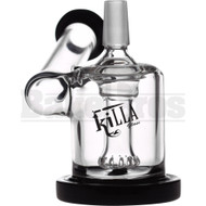"KILLA GLASS WP SIDECAR RIG W/ SHOWERHEAD PERC 4"" BLACK MALE 14MM"