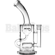 "MAVERICK WP BENT NECK INCYCLER W/ CAPSULE HONEYCOMB PERC 10"" CLEAR FEMALE 14MM"