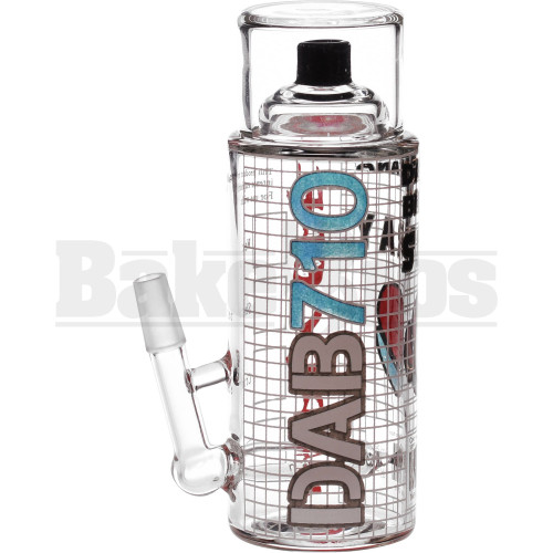 "TONY DABTANA WP SPRAY CAN W/ INLINE PERC 6"" CLEAR MALE 10MM"