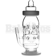 "WP BABY BOTTLE FABERGE EGG SWISS BODY 10"" CLEAR MALE 14MM"