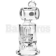 "MAVERICK WP ATOMIC SHOWERHEAD PERC BARREL MOUTH 6"" CLEAR MALE 10MM"