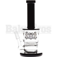 "MICRO WP HONEYCOMB PERC TRAPEZOID 6"" BLACK MALE 10MM"