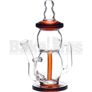 "WP DIFFUSED PERC & INLINE RECYCLER BABY BOTTLE 8"" AMBER FEMALE 14MM"