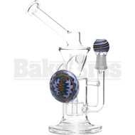 """WP SHOWERHEAD PERC KLEIN RECYCLER GRIP DISK 8"""" GREEN WHITE MALE 14MM"""