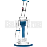 "KILLA GLASS WP INCYCLER TURBINE STEREO MATRIX PERC 11"" TEAL MALE 14MM"