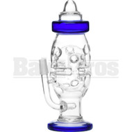 "WP BABY BOTTLE SWISS FABERGE EGG W/ INLINE PERC 8"" BLUE MALE 14MM"
