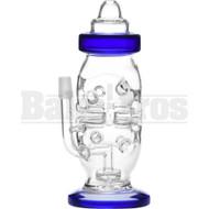 """WP BABY BOTTLE SWISS FABERGE EGG W/ SHOWERHEAD PERC 8"""" BLUE MALE 14MM"""
