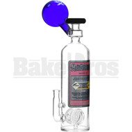 "MATHEMATIX WP NITROUS OXIDE NOS TANK W/ 2X HONEYCOMB PERC 15"" BLUE FEMALE 14MM"