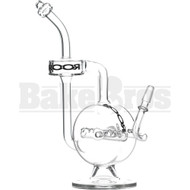 "ROOR WP CYLINDER BODY INLINE PERC DONUT RECYCLER 11"" CLEAR MALE 14MM"