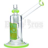 "LIQUID GLASS WP SHOWERHEAD OILCAN INSET BOWL 6"" SLIME GREEN FEMALE 18MM"