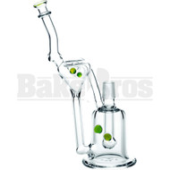 """WP BULB PERC W/ RECYCLER 10"""" SLIME GREEN MALE 18MM"""