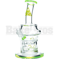 "NEXUS GLASS WP SLOT DISK PERC 8"" SLIME GREEN MALE 14MM"