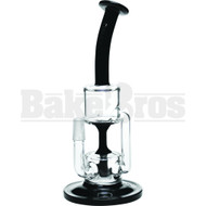 "DIAMOND GLASS WP FIXED TUBE PERC RECYCLER 9"" BLACK MALE 14MM"