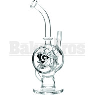 "DIAMOND GLASS WP HONEYCOMB & BODY RING PERC 10"" CLEAR MALE 14MM"