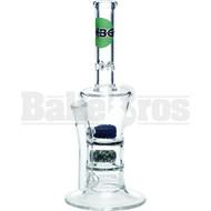 "HBG GLASS WP 2X FRITT DISK PERC SUNDAE CUP MARTINI STEMLESS 9"" CLEAR FEMALE 14MM"
