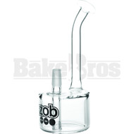 "ZOB GLASS WP FAT BOY VAPOR RIG OR BUBBLER 8"" CLEAR MALE 14MM"