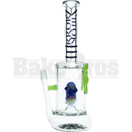 "SMOKIN MIRRORZ WP MONSTER PERC SNAGGLE TEETH DRIPS 11"" SLIME GREEN MALE 14MM"