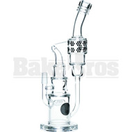 "MAVERICK WP INLINE PERC & SIDE RECYCLER LAYER CAKE 14"" CLEAR MALE 14MM"