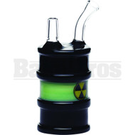"HIGH TECH WP RADIOACTIVE WASTE BARREL 8"" BLACK MALE 14MM"