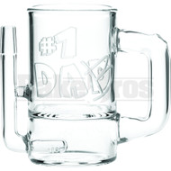 "HIGH TECH WP DRINK MUG BODY NUMBER 1 DAB 6"" CLEAR MALE 14MM"