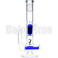 "Maverick Wp Inline & 8 Arm Tree Perc T Shape Body 14"" Blue Female 18mm"