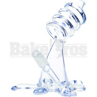 "WP BARREL MOUTH PIECE WITH OIL SPILL SPLASH 5"" CLEAR MALE 14MM"