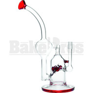 "JM FLOW WP TORNADO RECYCLER CROSS MUSHROOM PERC 10"" RED MALE 14MM"