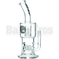 "Maverick Wp Barrel Gridded Perc With Splashguard 8"" Clear Male 14mm"