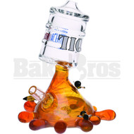 "HIGH TECH WP OIL BARREL DRUM WITH HONEY SIZZURP SPLASH 6"" AMBER MALE 14MM"