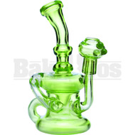 "ZOB GLASS WP KLEIN RECYCLER CUSTOM 7"" SLIME GREEN MALE 14MM"