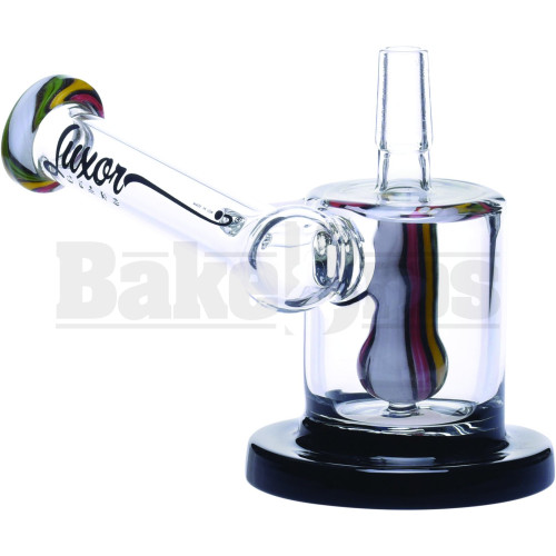 "LUXOR WP CANISTER RIG SHOWERHEAD PERC RASTA 3.5"" WHITE MALE 14MM"