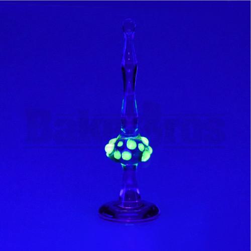 """GLASS DABBER TOOL UV SHROOM WAND PURPLE ILLUMINATI 4"""""""