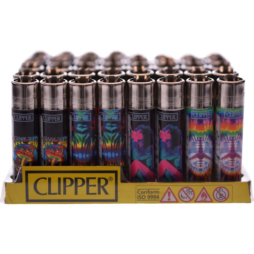 "CLIPPER LIGHTER 3"" TIE DYE TRIPPY2 TRIPPY2 ASSORTED Pack of 48"