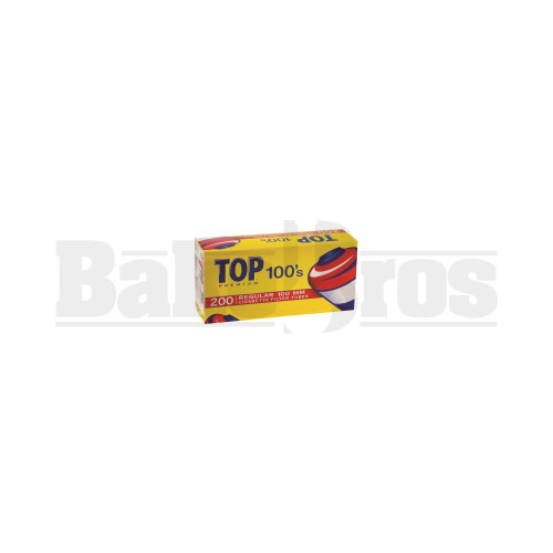 TOPS PREMIUM 100S CIGARETTE FILTER TUBE 100MM 200PCS PER BOX UNFLAVORED Pack of 1