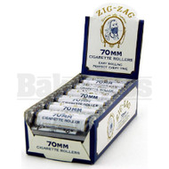 ZIG ZAG CIGARETTE ROLLERS WHITE Pack of 12 70MM