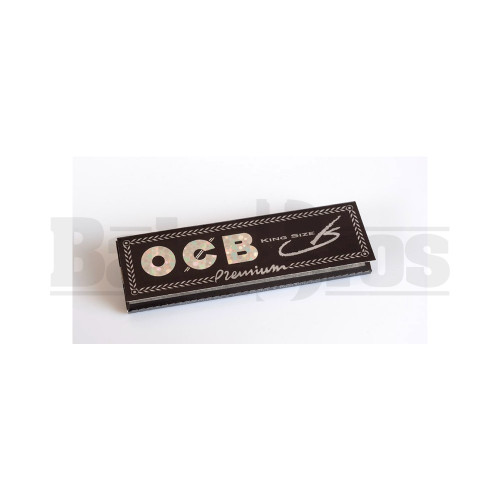 OCB PREMIUM ROLLING PAPERS KING SIZE W/ TIPS 32 LEAVES UNFLAVORED Pack of 24
