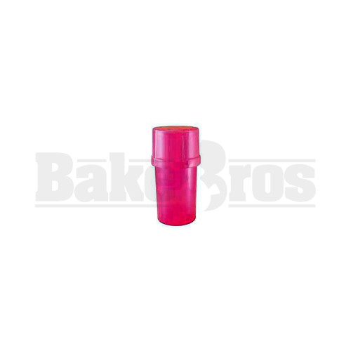 """MEDTAINER CONTAINER GRINDER 3 PIECE 3.5"""" SOLID PINK Pack of 1"""