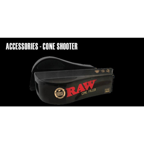 RAW CONE FILLER SHOOTER BLACK Pack of 12 1 1/4