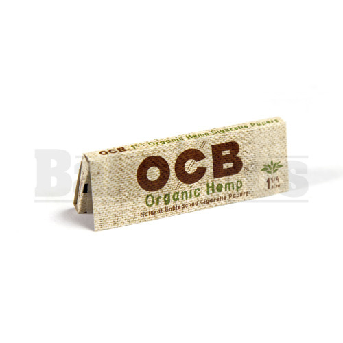 OCB ORGANIC HEMP UNBLEACHED ROLLING PAPERS 1 1/4 UNFLAVORED Pack of 6