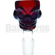 BOWL SKULL FACE AMBER 14MM