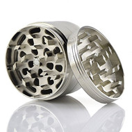 "METAL GRINDER 4 PIECE W/ POLLEN COLLECTOR 2.5"" SILVER Pack of 1"