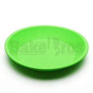 "SILICONE TRAY ROUND NON STICK OIL SLICK TRAY 8"" GREEN Pack of 1 8"" DIAMETER"