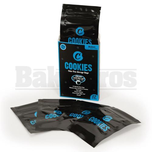 """COOKIES STORAGE BAGS MEDIUM 6"""" X 4"""" ODOR FREE BLACK Pack of 1 12 Per Pack"""