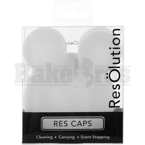 RESOLUTION RES CAPS CLEANING SOLUTION SILICONE FEMALE CAP NONE WHITE Pack of 1