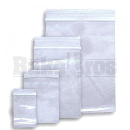 "APPLE BAGS BAGGIES 3050 3"" X 5"" CLEAR Pack of 10 1000 Per Pack"