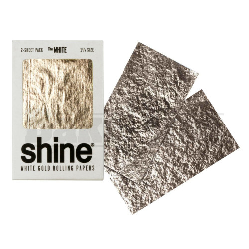 SHINE 24K THE WHITE ROLLING PAPERS WHITE GOLD 1 1/4 2 SHEETS PER PACK UNFLAVORED Pack of 1