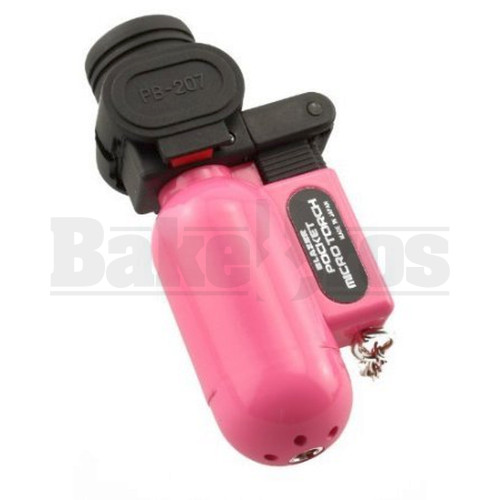 BLAZER THE ORIGINAL POCKET TORCH BUTANE REFILLABLE PB207CR PINK Pack of 1 3""