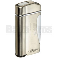 BLAZER THE ORIGINAL TORCH BUTANE REFILLABLE STRATUS SILVER Pack of 1 2.5""