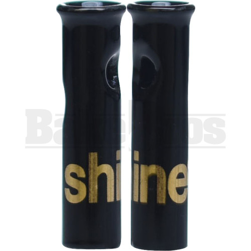 SHINE 24K GLASS ROLLING TIPS ROUND LIMITED EDITION BLACK BLACK Pack of 1 1""